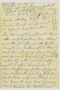 [Letter from Franziska Sternberger to her daughter, Julia, January 13, 1887]