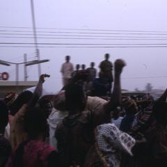 Crowd watching masquerade
