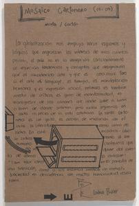 Mosaico cartonero : mixta/cartón
