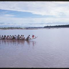 Boat races : Lao-American Association racing boat