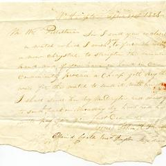 Letter from John H. Stevens to William Pelletreau, April 21, 1826