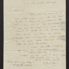 Letter from C.A. Clinton to Felix Dominy, 1834