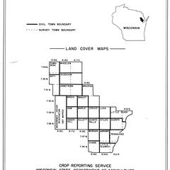 Oconto County, Wisconsin, land cover maps