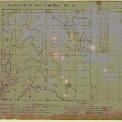 [Public Land Survey System map: Wisconsin Township 41 North, Range 10 West]