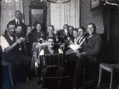 Max Peters with concertina player and other musicians
