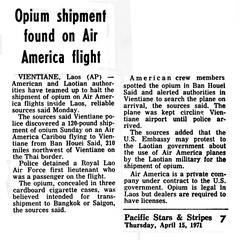AP article on opium on an Air America flight