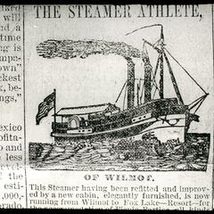 "The steamer, ""Athlete"""
