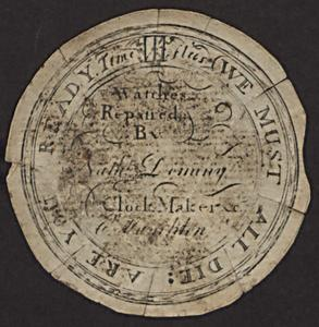 Nathaniel Dominy IV watchpaper