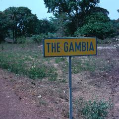 Sign Announcing Entrance to Gambia from Senegal on Road to Ziguinchor
