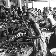 Vegetable Sellers at Freetown Market
