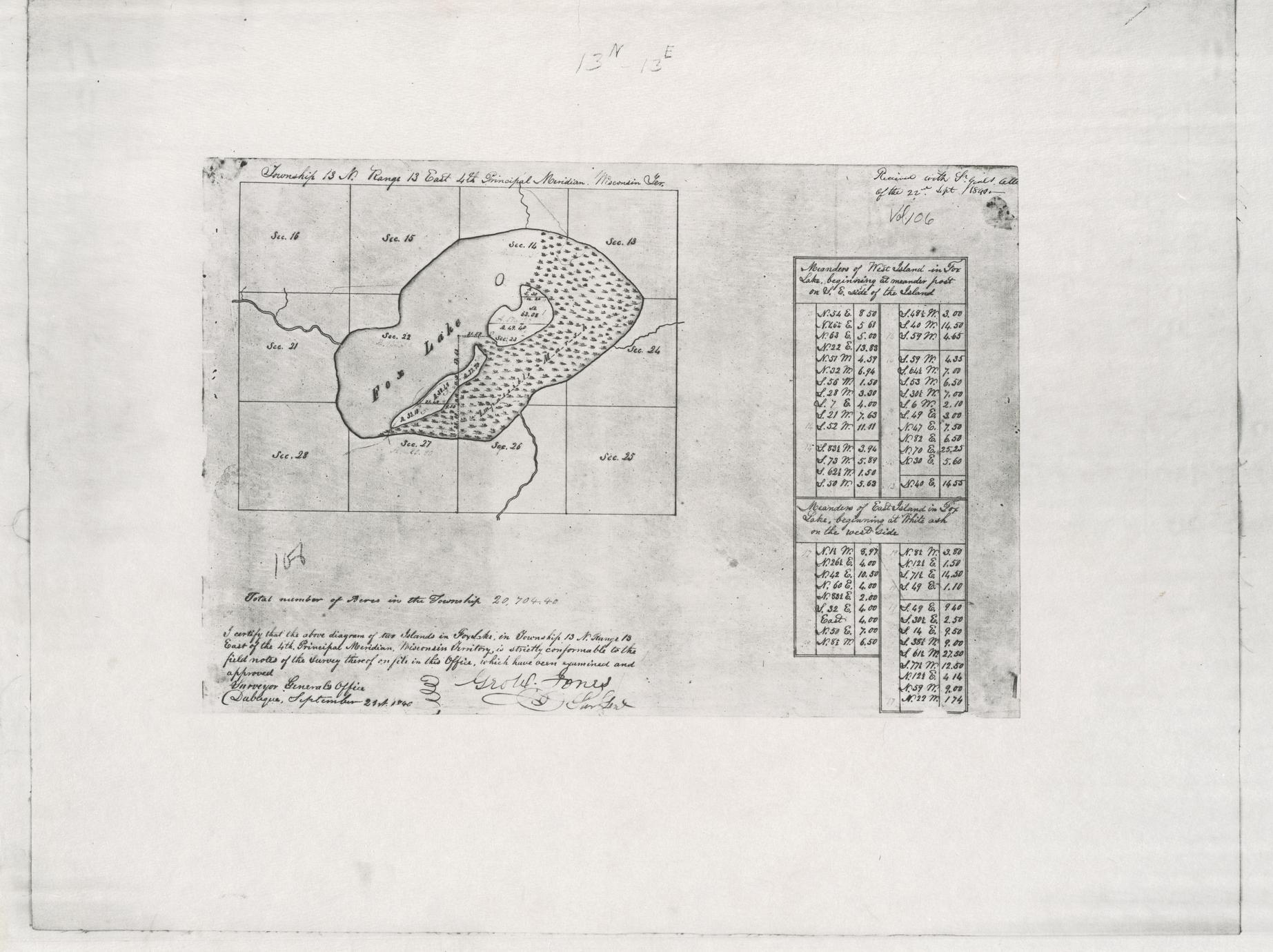 [Public Land Survey System map: Wisconsin Township 13 North, Range 13 East]