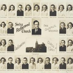 1940 Swiss Reformed Church confirmation class