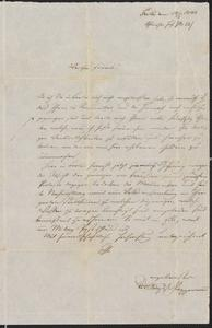 [Letter from August Schappermann, May 14, 1848]
