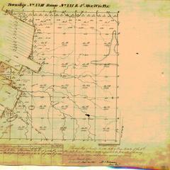 [Public Land Survey System map: Wisconsin Township 23 North, Range 21 East]