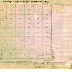 [Public Land Survey System map: Wisconsin Township 20 North, Range 11 West]