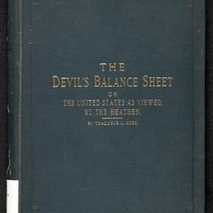 The devil's balance sheet ; or, The United States as viewed by the heathen