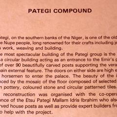 Photo of description of Pategi Compund at Jos Museum