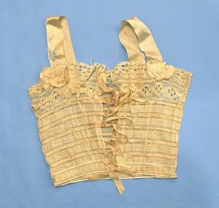 Cream cotton corset cover