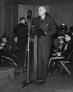 Dykstra, Clarence A. at the 1939 Founders' Day broadcast