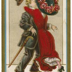 Suffragette vote-getting, Suffragette Series no.4 postcard