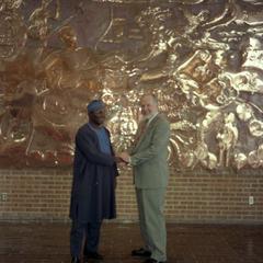 Oba Oladele Olashore and UW-Parkside Provost John Stockwell