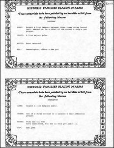 Berigan/Stapleton Blazon of Arms written explanation