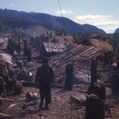 Refugee huts