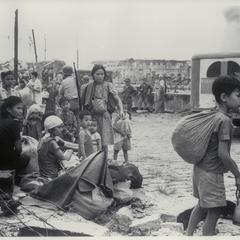 Survivors from Intramuros, Manila, 1945
