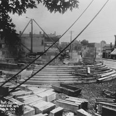 Post Office, Waukesha, construction, stairs