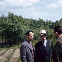 Men in an orchard