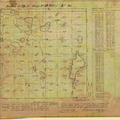 [Public Land Survey System map: Wisconsin Township 39 North, Range 10 West]