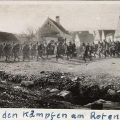 Nach den Kämpfen am Roten Turmpass i. Rumänien Einmarsch ins Ruhequartier