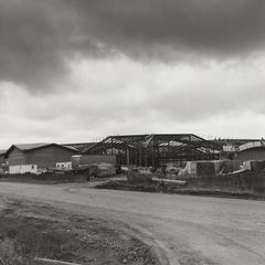 Nielsen Tennis Stadium under construction
