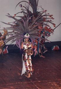 Chicano performers in costume