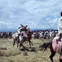 Teams of Young Oromo Men Competing on Horseback