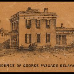 Residence of George Passage, Delavan