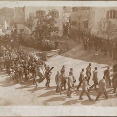 Die Beerdigung des Kameraden Josef Müller Uffz u. Flugzeugführer Rottenburg 1916