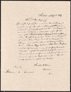 [Letter from Joseph Mathison to his friend, Jakob Sternberger]