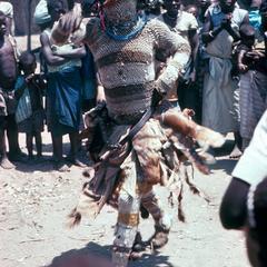 A Cokwe Maske Dancer Performing Circumcicion Ceremony Rites
