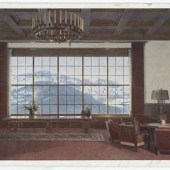 [View from the living room window at Berghof, Berchtesgaden]