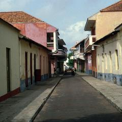 Narrow Street of Residences in Urban Bissau