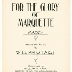 For the glory of Marquette