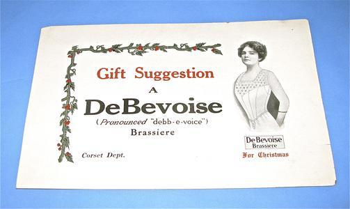 Card advertising brassiere