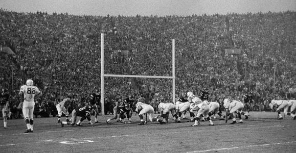 1963 Rose Bowl game action
