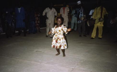 Child dancing at Nike's house