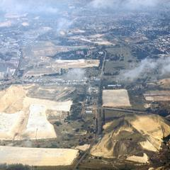 Aerial View of Gold Dust Dumps in Johannesburg