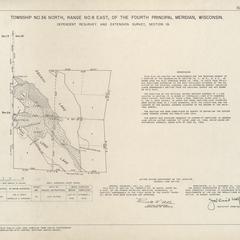 [Public Land Survey System map: Wisconsin Township 36 North, Range 08 East]