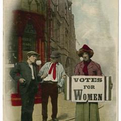 Ham sandwich, suffrage postcard