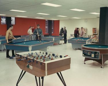 Playing pool at Cartwright Center