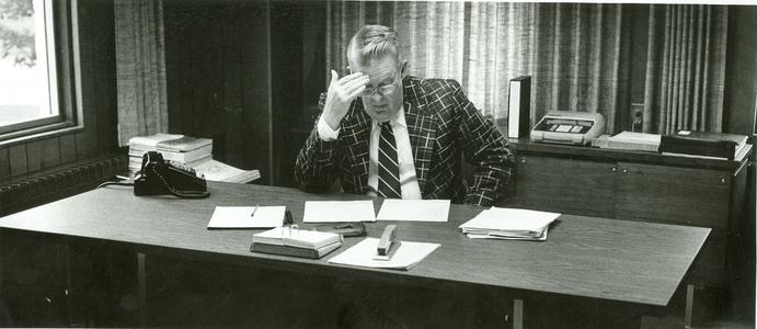 Dean Oliver in his office